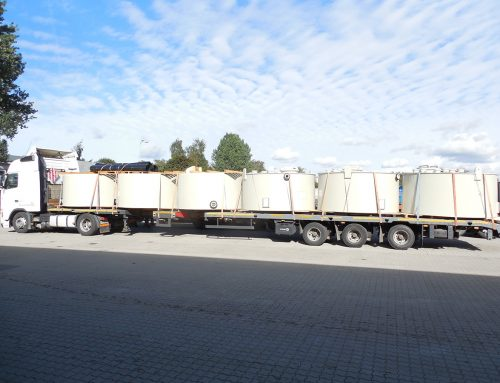 Delivery of containers for alkaline liquids from Germany
